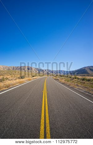 Portrait View Of Highway Road