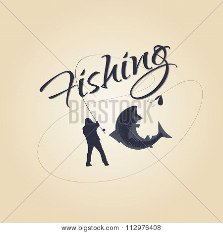 logo fishing  and design elements