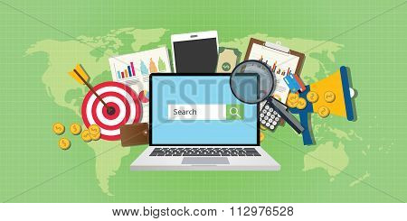 sem search engine marketing seo advertising analysis notebook