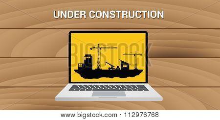 website construction construct under development concept