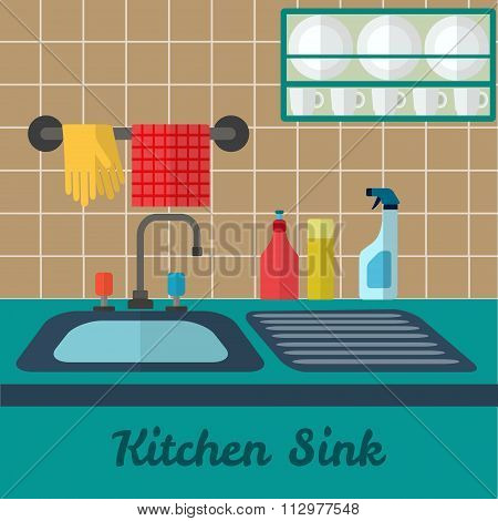Vector Kitchen Sink