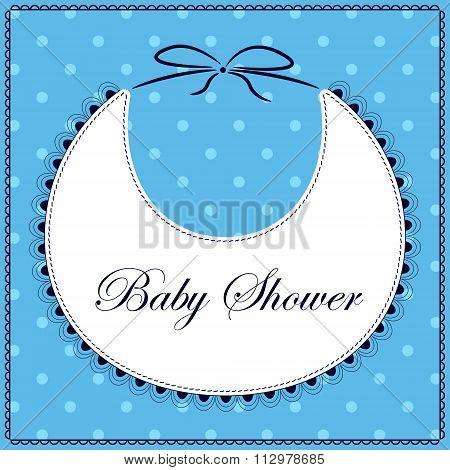 Baby shower with bib blue