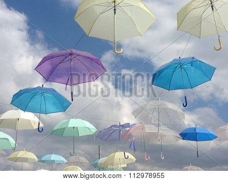 flying umbrellas