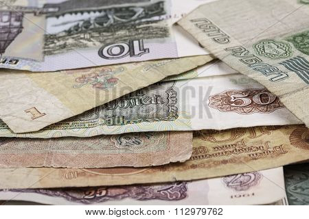 banknotes obsolete rubles currency of the Soviet Union