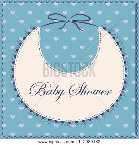 Baby shower with bib blue