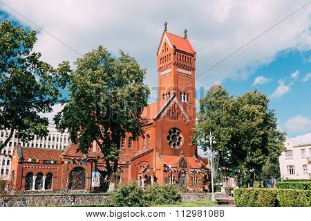 Belarussian Roman Catholic Church Of Saints Simon And Helen or Red Church