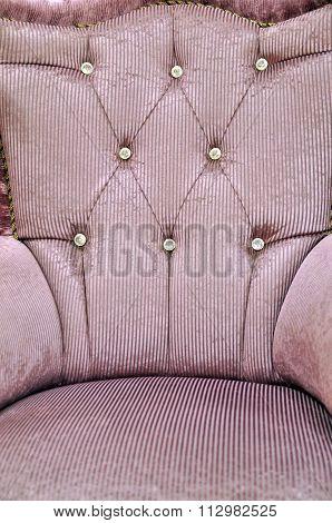 Armchair purple bergere