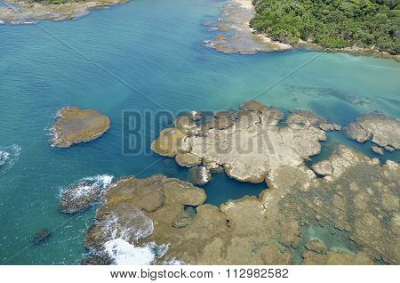Aerial view of Gatun Lake, Panama Canal on the Atlantic side
