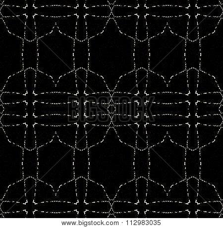 Seamless ellipses pattern black white