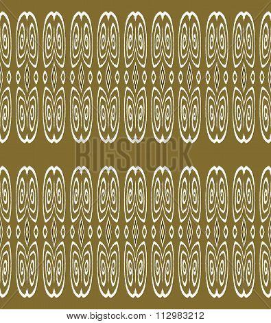 Seamless spiral pattern brown gold white