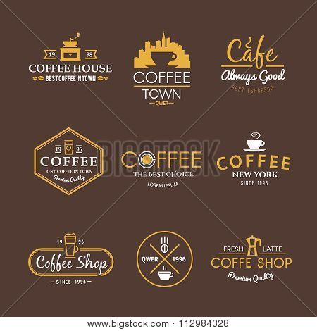Vector labels. Drinks. Coffee.