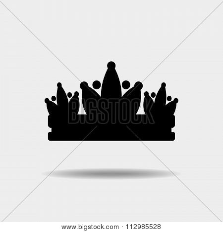 Diadem Vector Illustration Silhouette.