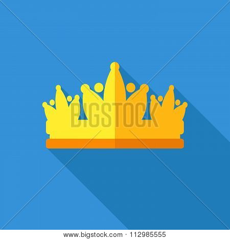 Diadem Vector Illustration In Flat Style