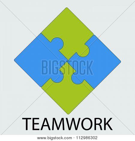 Teamwork icon flat design