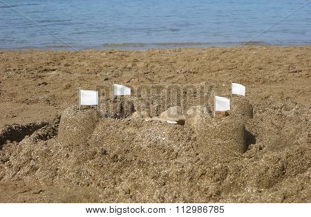 Sandcastles With Flags