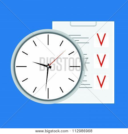 Time planning design icon