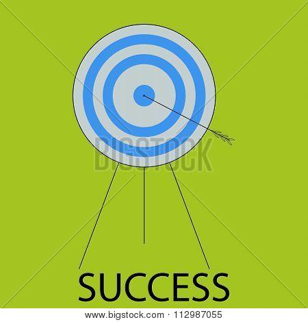 Succes icon flat design