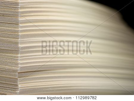 Shifted Stack Of Paper