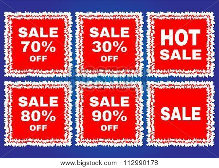 Big sale tags stamp,