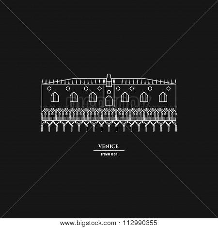 Rome Landmark Outline