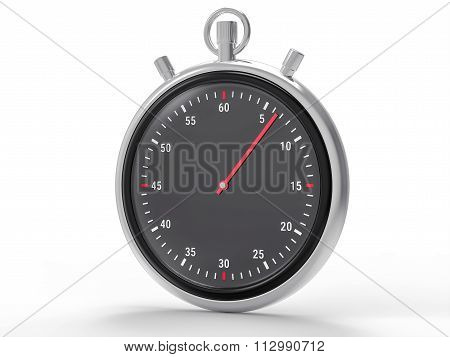 Isolated Metallic Chronometer Background
