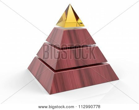 3D Isolated Pyramid Background