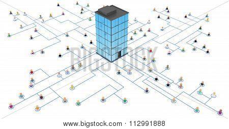 Cartoon Crowd, Link Headquarters