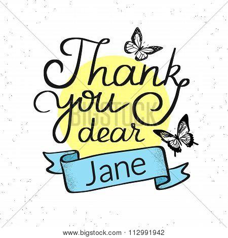 Thank you dear Jane