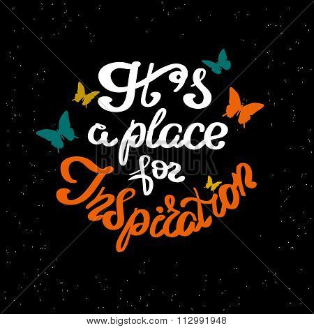 It is a place for inspiration scribble handwritten design element