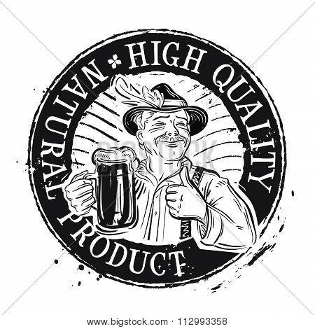 beer. stamp. vector illustration
