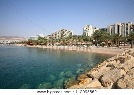 Eilat Beach & Hotels Area