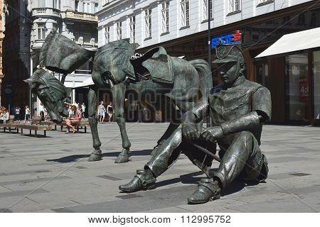 Modern Sculpture By French Artist Julien Berthier At Graben Street In Vienna