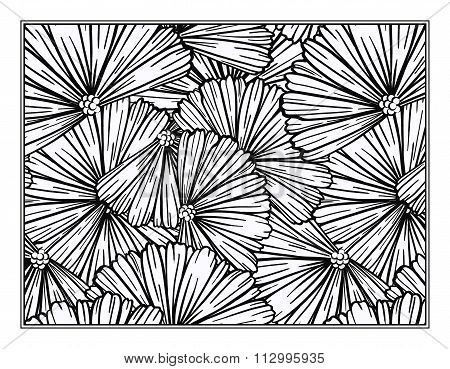 Floral decorative ornamental coloring page