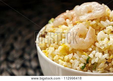 Shrimp fried rice, Taiwanese style.
