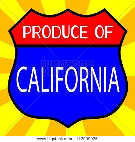 Produce Of California Shield