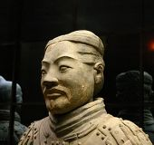 picture of qin dynasty  - ancient terracotta warrior from a tomb of the first emperor of china - JPG