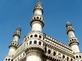 image of charminar  - 400 year old historic national heritage arhetectural building  - JPG