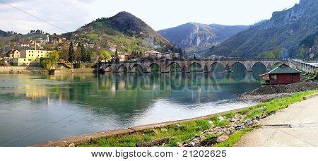 Visegrad Bridge Panorama