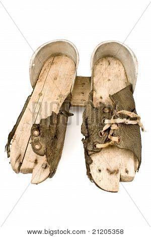 Very Old  Ski Shoes