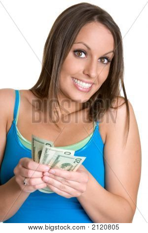 Lady Holding Money