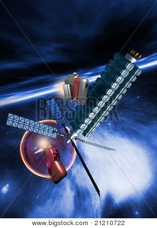 Spacestation In Earth Orbit