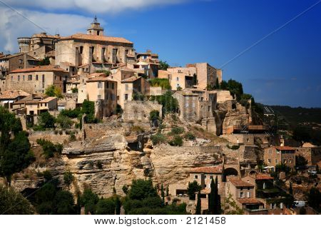 Ancient Medieval Hilltop Town Of Gordes In France 5