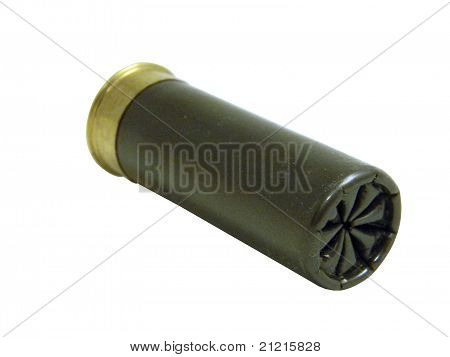 Gray shotgun shell
