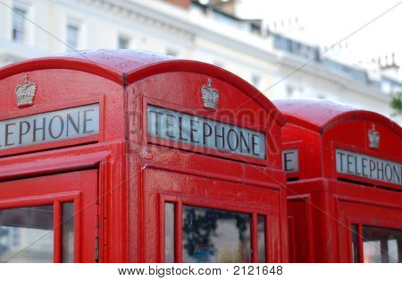 Detail Of London Phone Booths