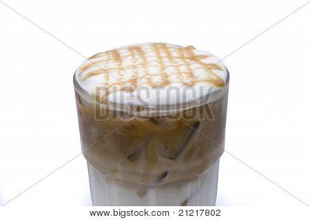 ice coffee juice isolated