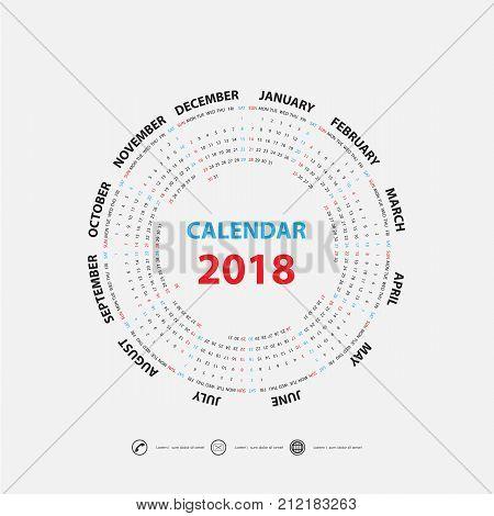 2018 calendar template calendar for 2018 year calendar starts from