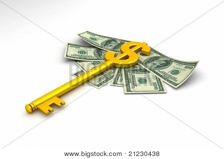 key with dollar