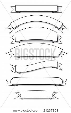 lots of banners vectors