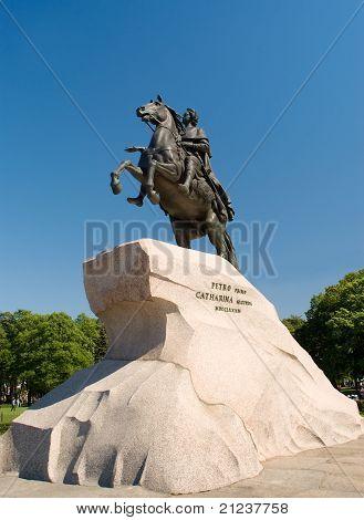 Russia. St. Petersburg. Bronze Horseman