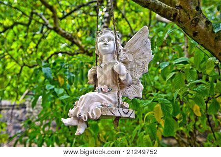 angel on a swing